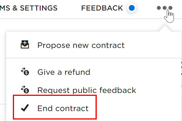 Ending a Contract on Upwork