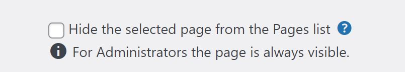 404page HIde Page from Pages List