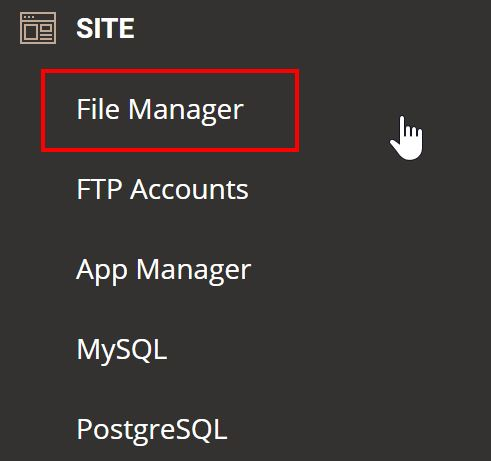 File Manager Siteground